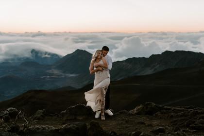 Adventure Engagement Session with Hannah + Kyle in Haleakala, Maui, HI