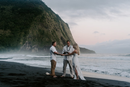 Adventure Elopement Session with John + Kate in Waipio Valley, HI