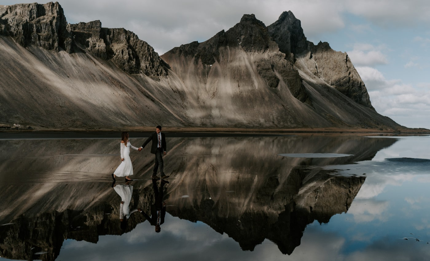 Adventure Elopement Session with Bobby + Michelle in Iceland