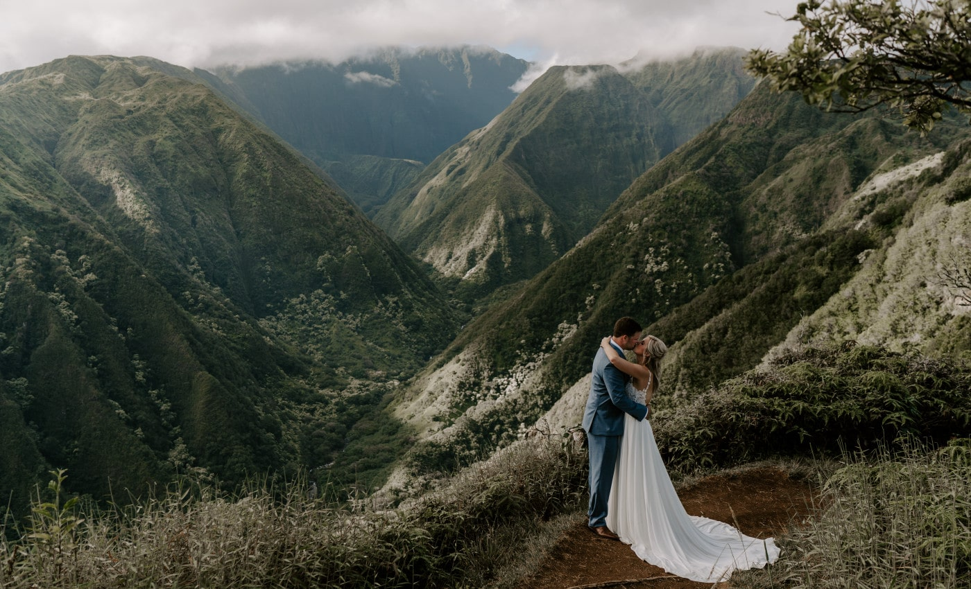 Maui Elopement on Oceanside Cliffs