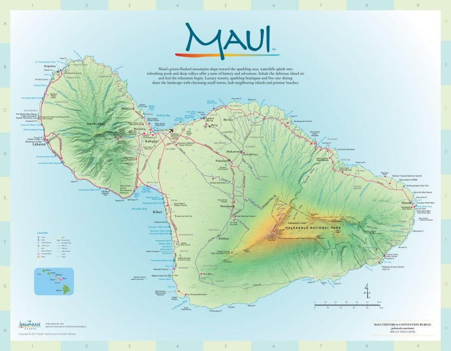 Map of accommodations on Maui