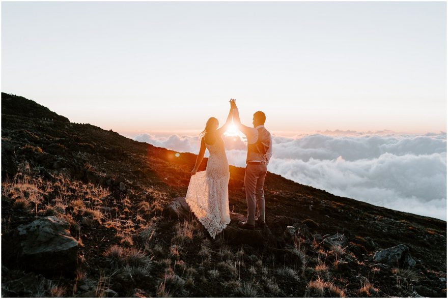 Haleakala National Park elopement in Maui
