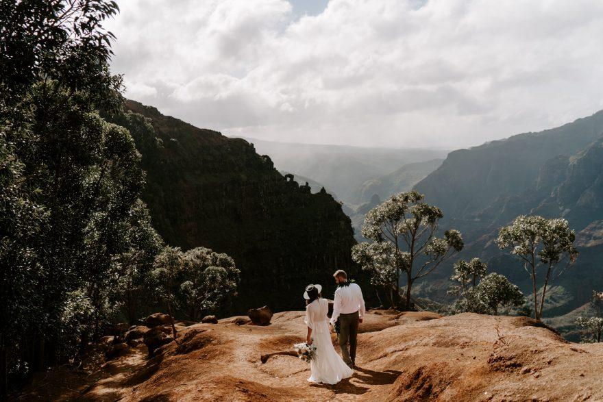 Waimea Canyon adventure elopement wedding