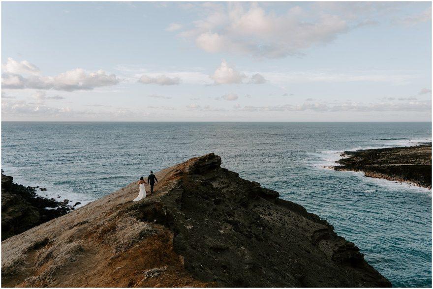 Green Sands Beach Hawaii adventure wedding