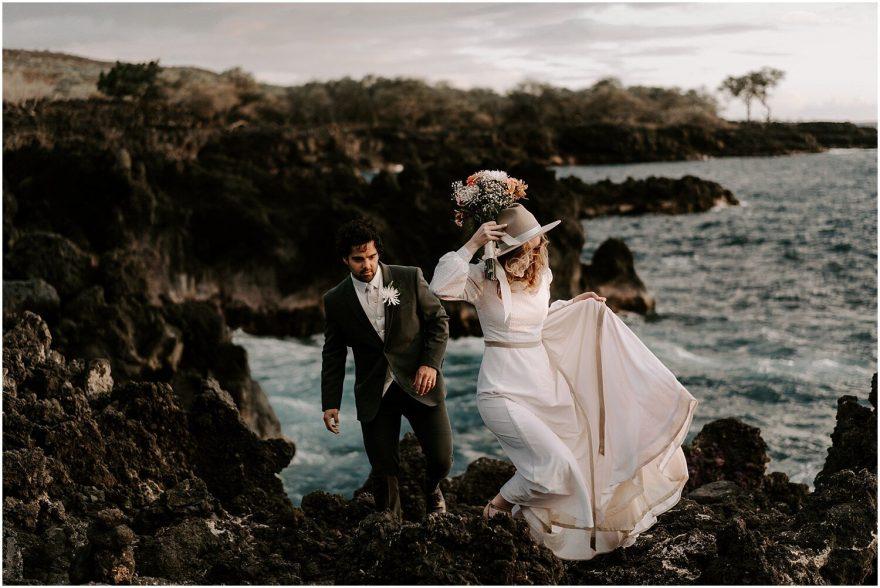 Cliffside elopement on the big island