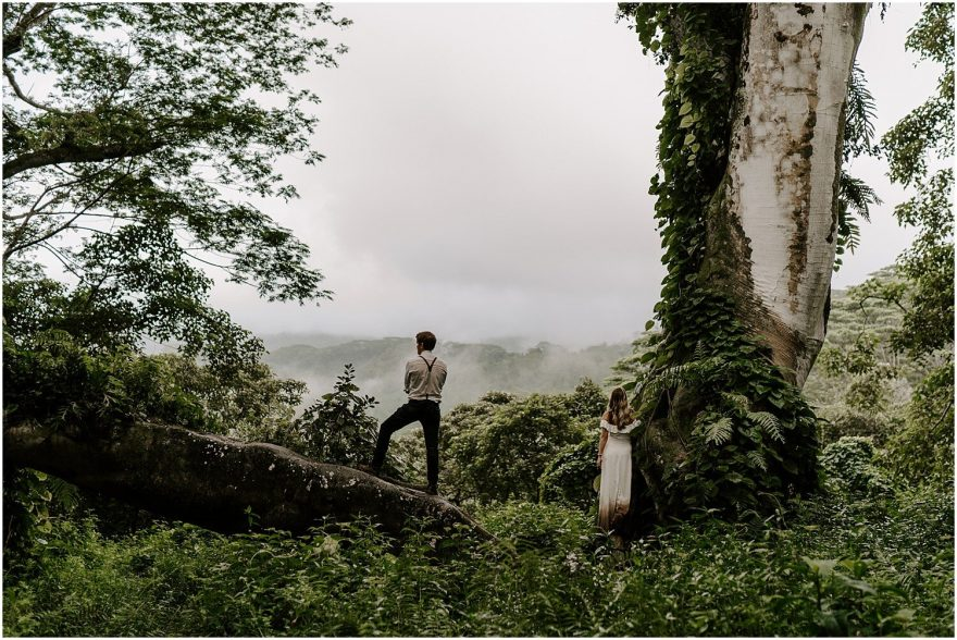 Kauai adventure elopement in the jungle