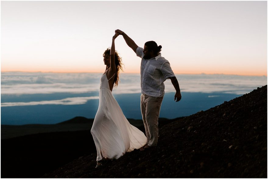 Mauna Kea Summit sunrise elopement
