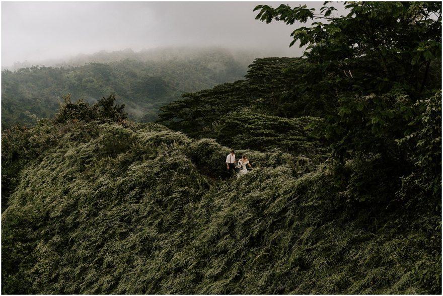 Kuilau Hike on Kauai for adventure elopement