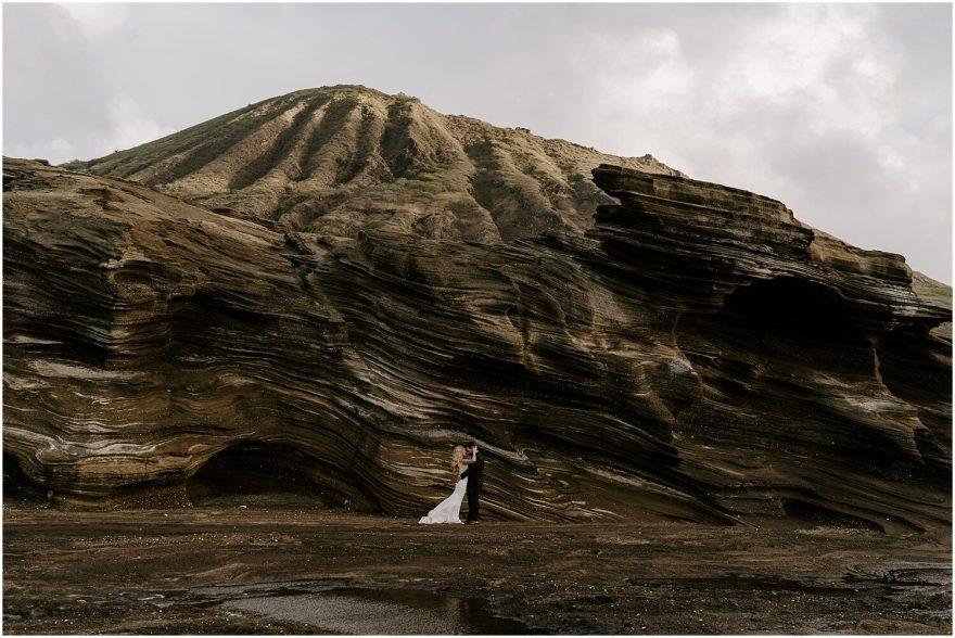 Oahu cliffside elopement