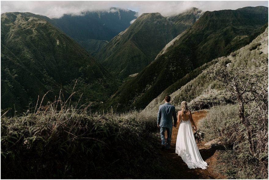 Waihe'e Ridge Trail adventure wedding