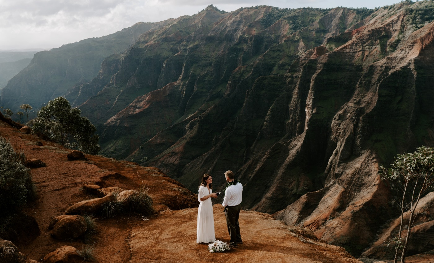 Kauai Elopement in Waimea Canyon