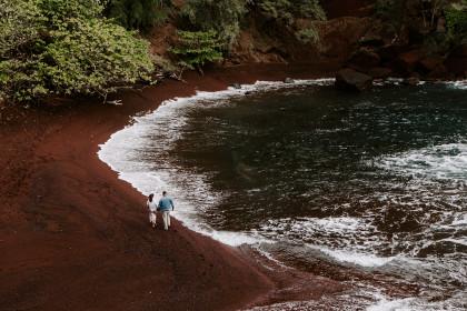 Red Sand Beach on Maui | The Ultimate Honeymoon Adventure