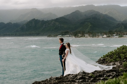 Oahu Elopement with Caroline and Ryan